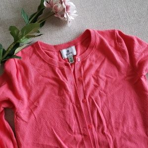 3/$30 Susina pink 3/4 sleeve cardigan button down